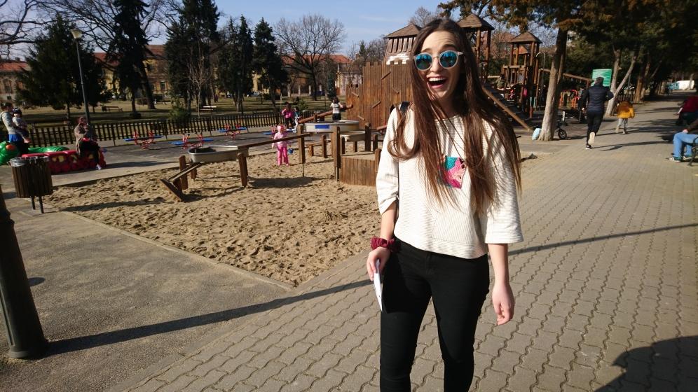 Maddie in Carmen Sylva Park